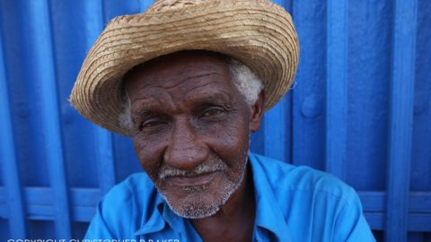 Old man in Trinidad, Cuba; copyright Christopher P Baker