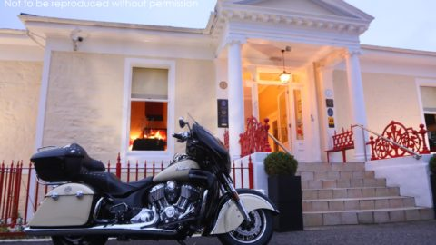 2017 Indian Roadmaster at Rocpool Reserve luxury hotel, Scotland; copyright Christopher P Baker