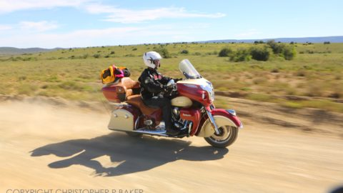 SX2A3424 2ooopx 2015 Indian Roadmaster in Kwandwe Private Game Reserve, South Africa; copyright Christopher P Baker