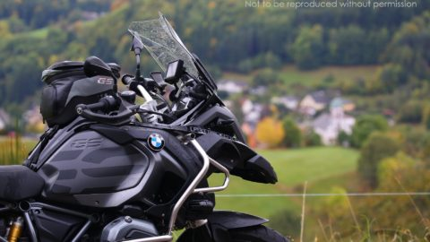 SX2A4112 BMW R1200GSA in the Vosges Mountains, Alsace, on Edelweiss Bike Travel 'Best of Europe' tour; copyright Christopher P Baker